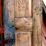 antique door used to make entry gate