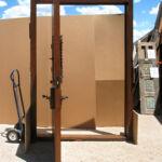 pintle-hinged door in action