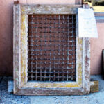 Antique Window for pintle-hinged door