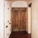 Installation photo of back of bedroom doors