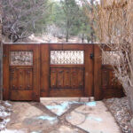 Triple panel gate installed (front)
