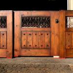 Triple panel gate on loading dock