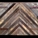Chevron Pattern Gate Front
