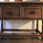 Entryway table to go with carved closet doors